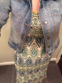 The maxi dress which I wore twice, and the jean jacket.
